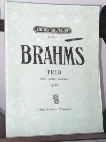Brahms J - Trio in A Minor Op 114 for Piano Clarinet & Violoncello